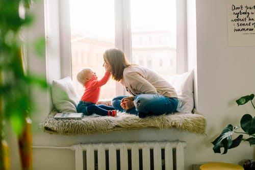 Inred barnrummet med vackra sängkläder